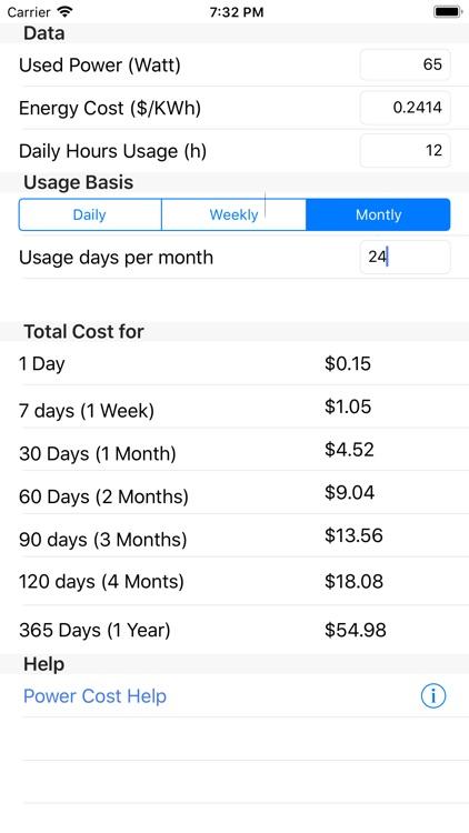 Power Cost screenshot-5