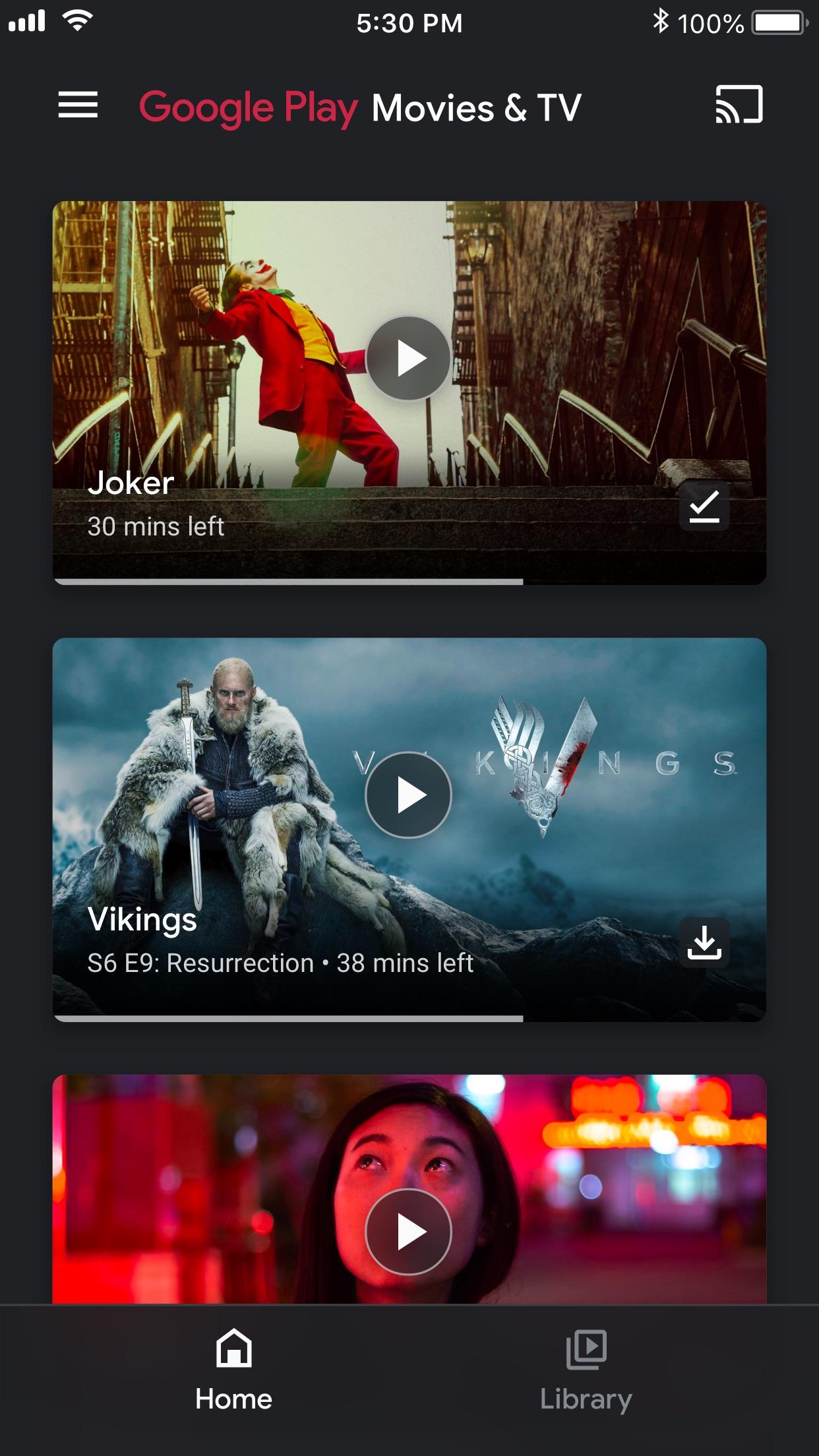 Google Play Movies & TV Screenshot
