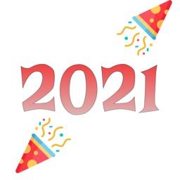 2021 - Happy New year sticker.
