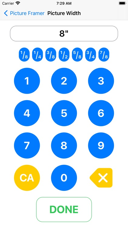 Picture Frame Calculator