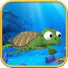 Abraham Kent - Diving turtle artwork