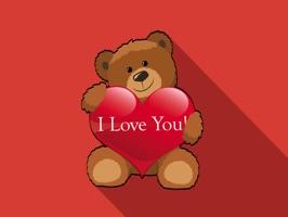 Teddy Valentine Bear Stickers