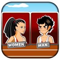 Men and women race