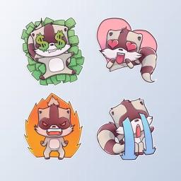 RaccoonMoji - Racoon Stickers