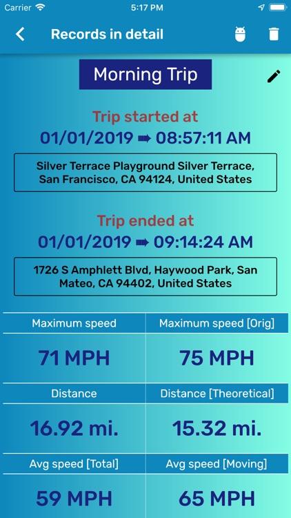 GPS Speedometer and Odometer screenshot-3