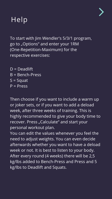 5-3-1 workout calculator screenshot 7