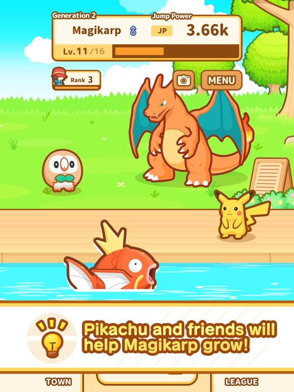 Pokémon: Magikarp Jump iPad app afbeelding 5