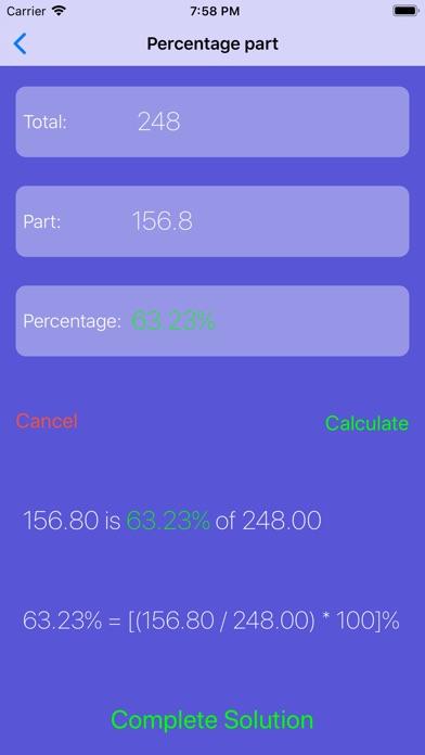 Percentage Calculator +++ Screenshots