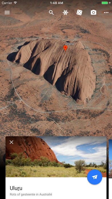 Google Earth iPhone app afbeelding 2