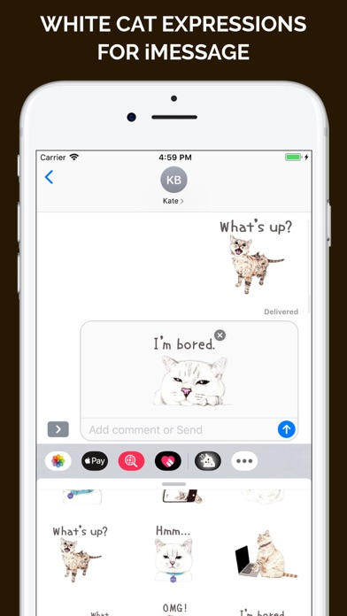 Screenshot for White Cat Expressions in Japan App Store