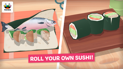 Screenshot for Toca Kitchen Sushi in United States App Store