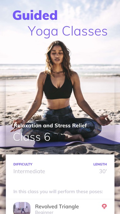 Screenshot for Yoga Wave: workouts and poses in Czech Republic App Store