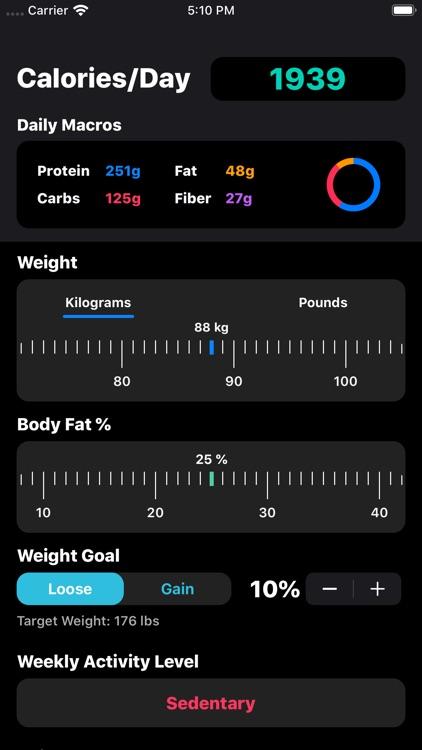 IIFYM Macro/Calorie Calculator screenshot-3