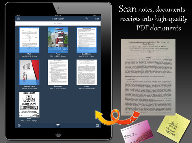 ‎Fast Scanner : PDF Doc Scan Capture d'écran