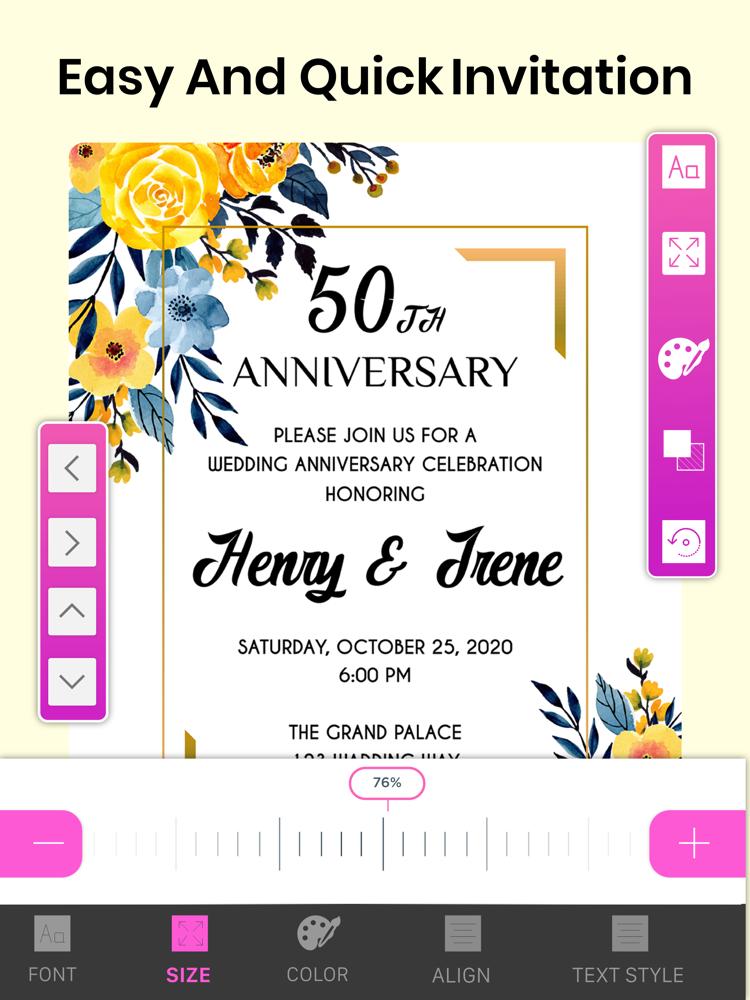 invitation maker  design card app for iphone  free