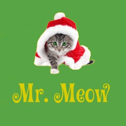 Mr. Meow - funny cat stickers