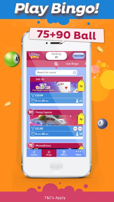 Loony Bingo - UK Bingo & Slots screenshot one