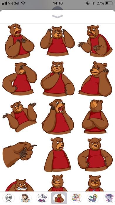 Cute Bear Pun Funny Stickers screenshot 2
