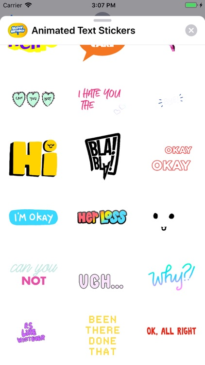 Animated Text Stickers
