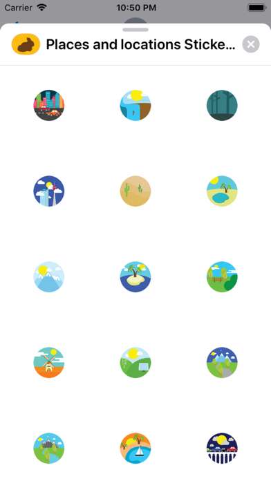 Screenshot for Places and locations Stickers in Kazakhstan App Store