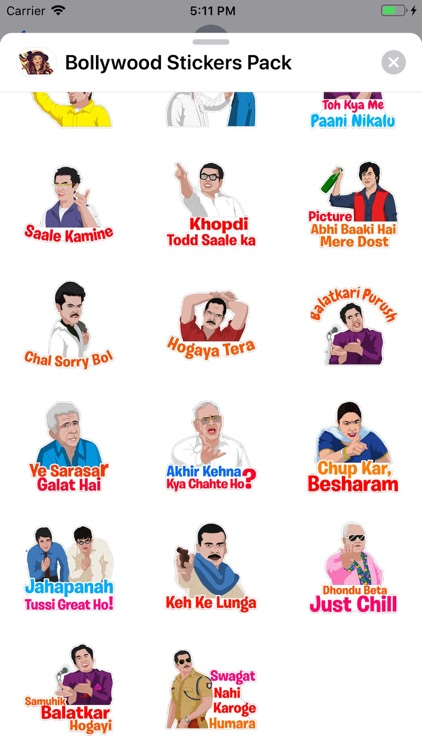 Bollywood Stickers Pack screenshot-3