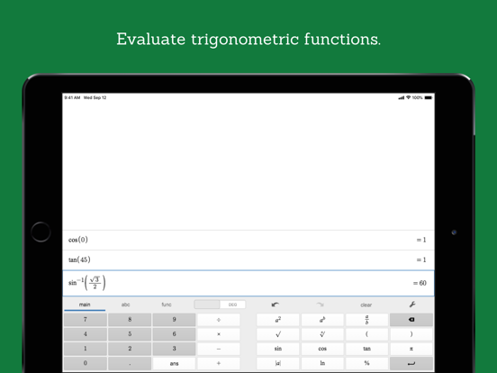 Desmos Scientific Calculator by Desmos (iOS, United States ... on evaluate indefinite integral with an e, evaluate the power, evaluate the limit,