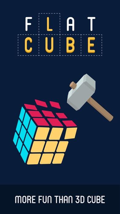 Flat Cube : 2D Cube Puzzle screenshot 1