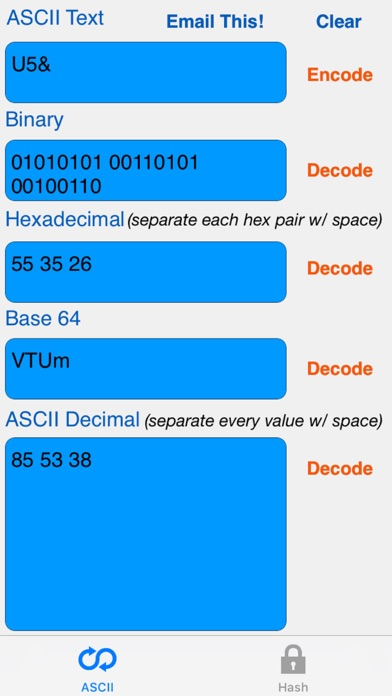 HEX ASCII BASE64 MD5 SHA conv