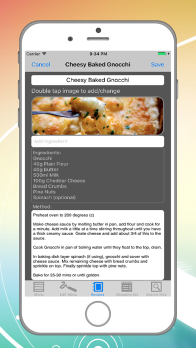 Dinner Buddy Meal Planner Screenshot