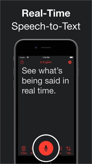 Live Transcribe Screenshot