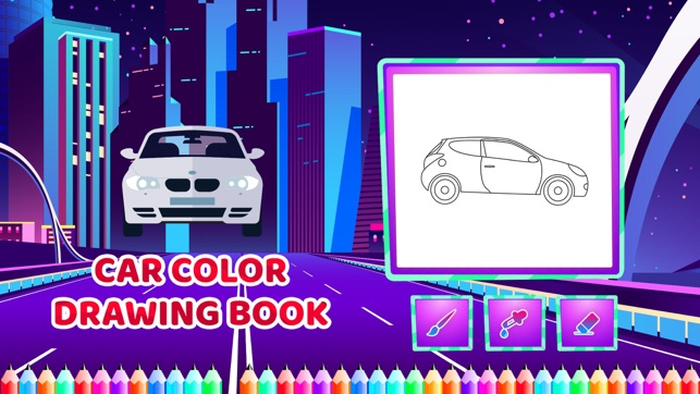 Car Colour Drawing Book On The App Store