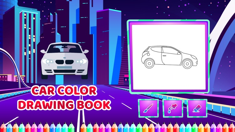 Car Colour Drawing Book