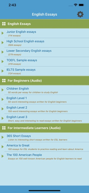 learn english essays on the app store iphone screenshots