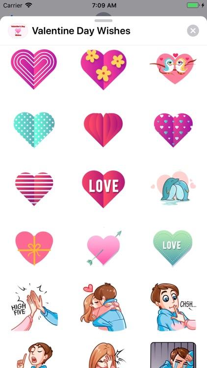 Valentine Day Wishes Stickers screenshot-5
