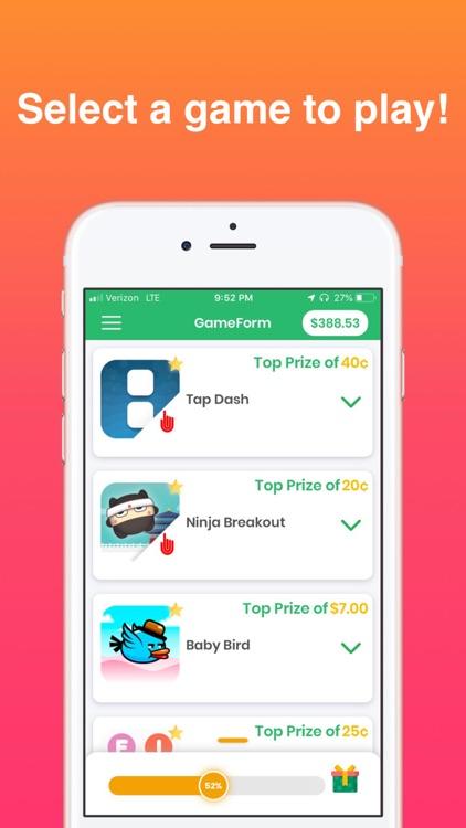 GameForm: Play Games for Money screenshot-0