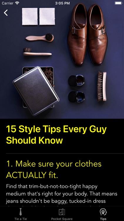 How To Tie a Tie • screenshot-9