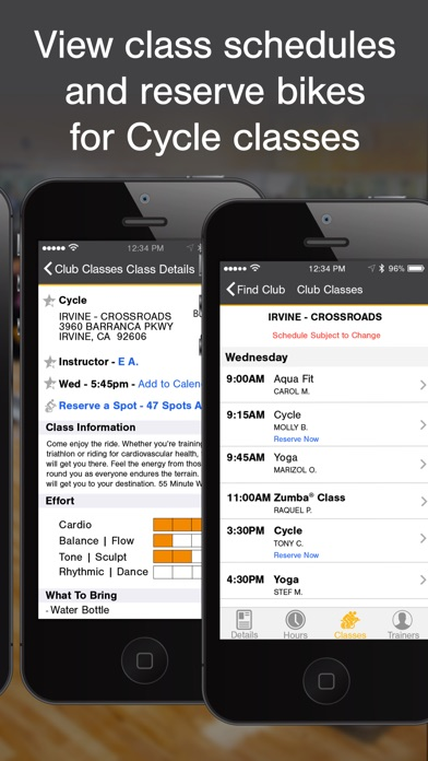 LA Fitness Mobile app image