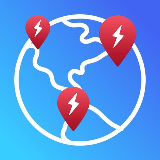 Supercharger map for Tesla