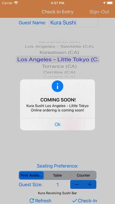 messages.download Kura Sushi Waitlist software