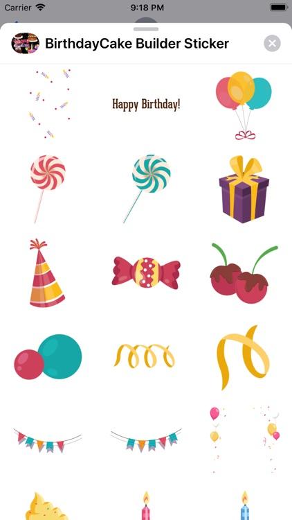 Birthday Cake Builder Sticker screenshot-6