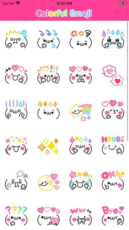 Colorful Emoji Stickers