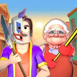 Strange Clown in Granny's Town