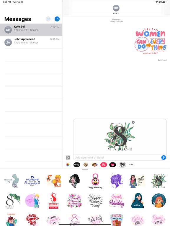 Strong Women's Day Stickers screenshot 4