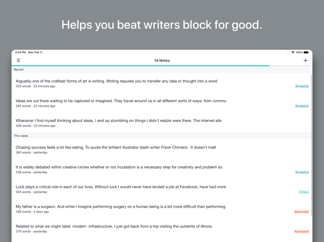 Prompts for Writing Screenshot