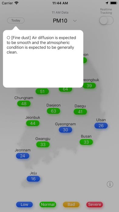 PM10 Tracker (미세먼지알림이)のおすすめ画像5