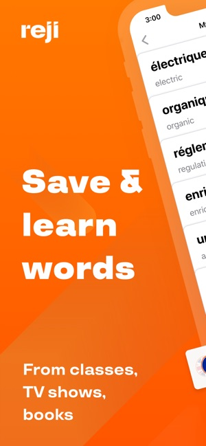Reji – save and learn words Screenshot
