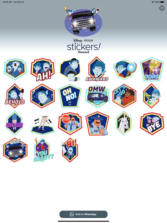 Pixar Stickers: Onward screenshot 6