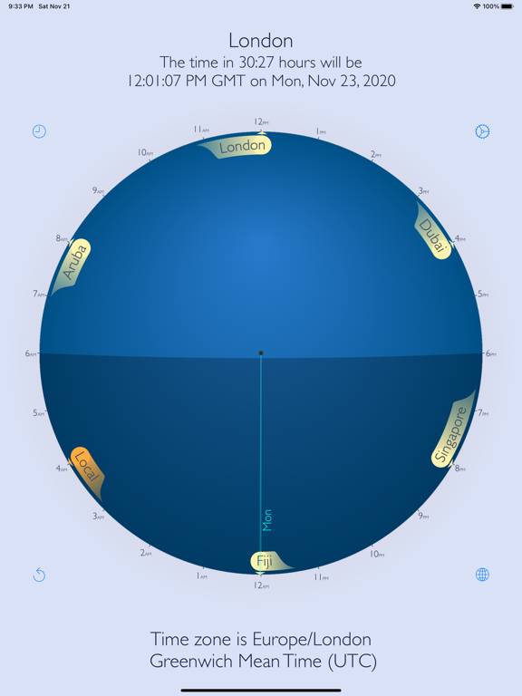 World Time Travel Clock Screenshots