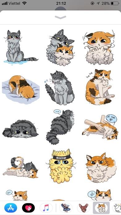 Cat Bigmoji Funny Stickers screenshot 2