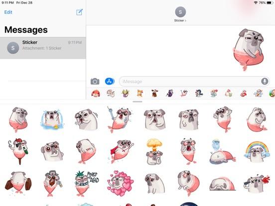Water Pug Dog Funny Stickers screenshot 4